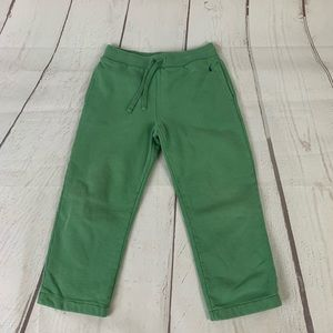 Vintage kids olive green polo sweatpants size 7